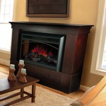 "Providence Chadwick Mantel with 28"" Electric Flame Firebox"