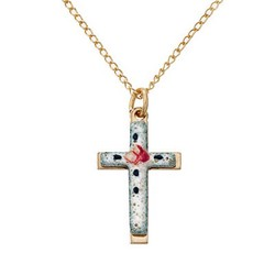 Gold-Filled Childrens Cloisonne Cross
