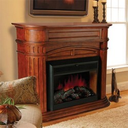 "Barclay Mantel with 28"" Electric Flame Firebox"