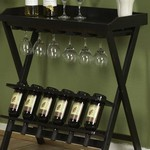Antique Black Tuscany Wine Stand