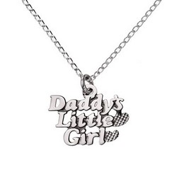 Childs Sterling Silver Daddys Little Girl Pendant